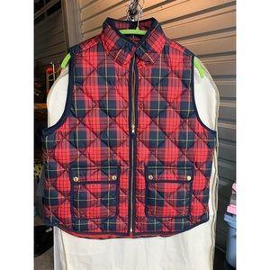 J Crew plaid Puffer Vest